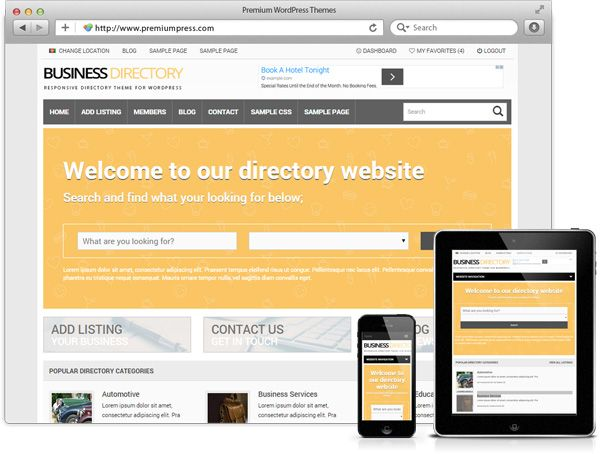 Wordpress Responsive Directory Theme - WordPress Responsive Temalar