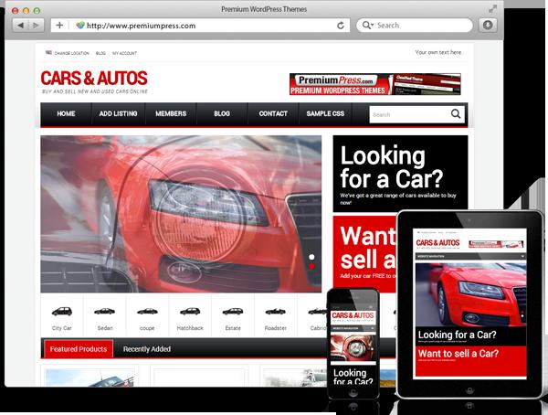 Wordpress Car Dealer Theme - WordPress Araç İlan Teması - WordPress Responsive Temalar