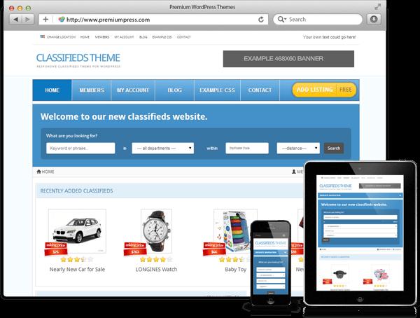 Wordpress Classifieds Theme - WordPress Responsive Temalar