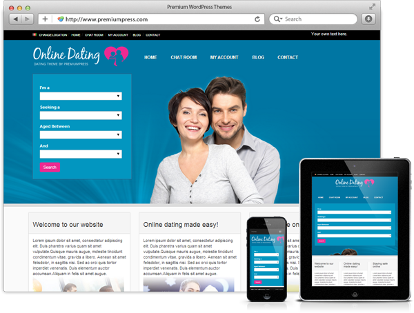 Wordpress Dating Theme - WordPress Evlilik Teması - WordPress Responsive Temalar