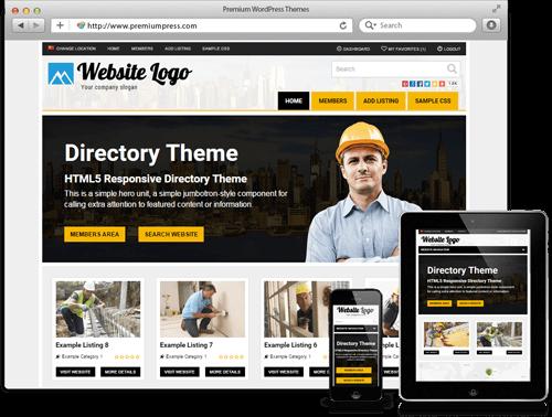 Wordpress Directory Theme - WordPress responsive Temalar