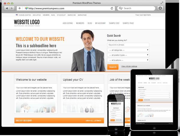 Wordpress Job Board Theme - WordPress İş, Eleman Arama ve Kariyer Sitesi Teması - WordPress Responsive Temalar