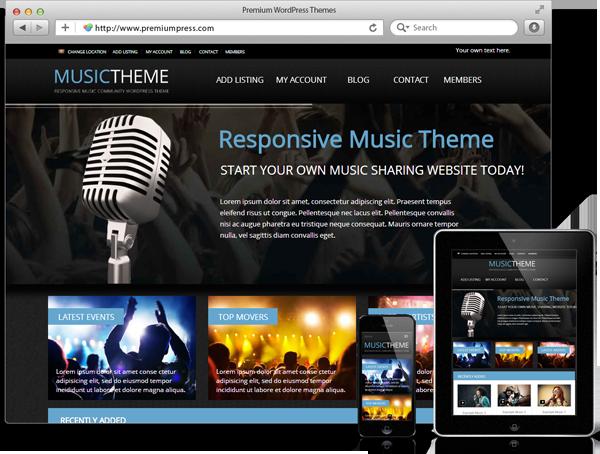 Wordpress Music Theme - WordPress Müzik Teması - WordPress Responsive Temalar
