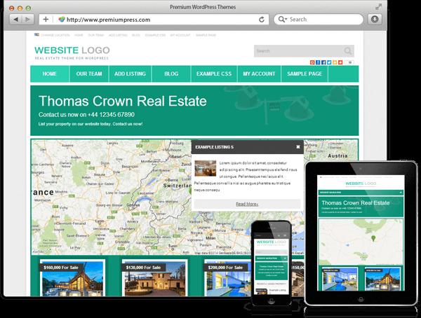 Wordpress Real Estate Theme - WordPress Emlakçı Teması - WordPress Responsive Temalar