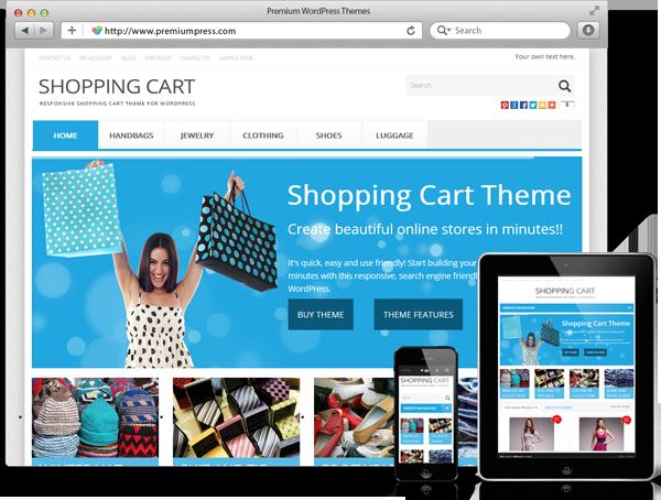 Wordpress Shop Theme - WordPress Responsive Tema