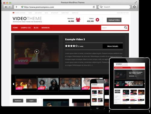 Wordpress Video Theme - WordPress Video Paylaşım Teması - WordPress Responsive Temalar